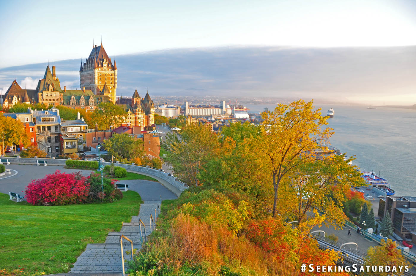 Morning sunrise at Chateau Frontenac, Quebec City, Canada