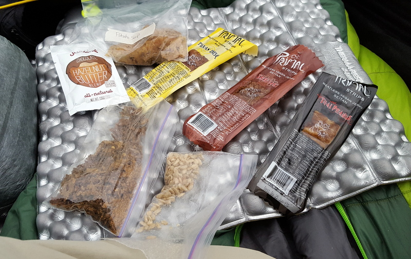 Salty & sweet snacks for backpacking